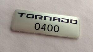 Genuine Ford FPV BA BF build badge decal - F6 Tornado ute build number 400