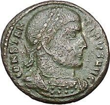 Constantine I the Great  319AD Rare Ancient Roman Coin Victory Nike Cult  i40748