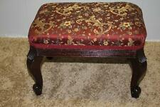 lovely French style mahogany ottoman stool / foot stool With new upholstery