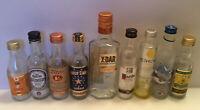12 Mini Liquor Bottles 50ml Vodka Tequila Empty Glass Bottles