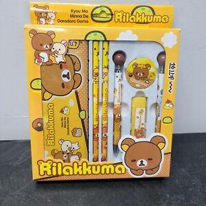 Rilakkuma Metal Case Set: Pen, Pencils, Mechanical Pencils, Led, Eraser, Case.