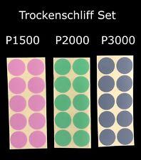 Schleifblüten Set Selbstklebend Trockenschliff  P1500 P2000 P3000 ähnlich Kovax