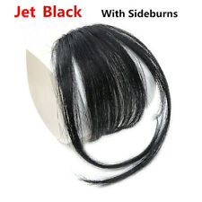 Thin Air Neat Wispy Bangs Synthetic Hair Clip In Fringe Front Hairpiece 4 Colors