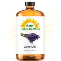 Lavender Essential Oil (Mega 16oz) 100% Pure Amber Bottle + Dropper