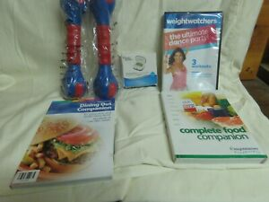 Weight Watchers Points Finder Booster Booklets Case DVD Workout Set Eating Out++