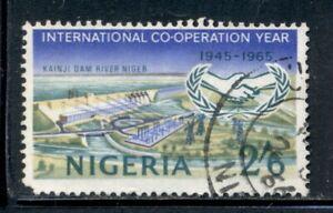 NIGERIA 180 SG168 Used 1965 2sh6p ICY Kainji Dam Cat$8