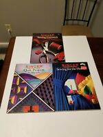 Singer Sewing Manual Lot of 3, Sewing Essentials, Quilting, Home