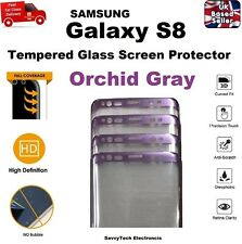 Full 3D Curved Tempered Glass Screen Protector for Samsung S8 Orchid Gray