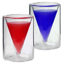 2x 30ml doppelwandige Shot- Schnapsgläser im Spitzglasdesign und schönen Karton