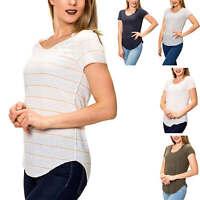 Vero Moda Damen T-Shirt Kurzarmshirt O-Neck Longshirt Stretch Casual SALE %