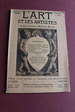 """revue """" L'ART et les ARTISTES"""" 1908 - N°40 cathédrale de Reims, art polonais..."""