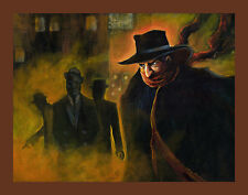 THE SHADOW Lowbrow Pop Art Pulp Print Vintage Crime Adventure