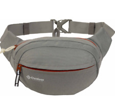 Outdoor Products Gray And Red Fanny Pack Belt Pouch Waist Hiking Crossbody Bag