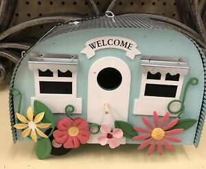 NWT Camper RV Retro Style Birdhouse Hanging