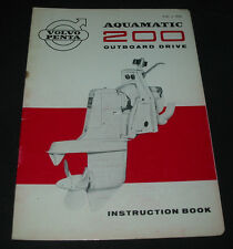 Instruction Book Volvo Penta Aquamatic 200 Outboard Drive Stand 1964!