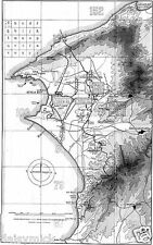 Map of Suvla Bay & Anzac Cove Gallipoli Turkey World War 1, 6x4 Inch Reprint