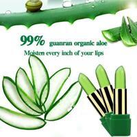 Aloe Vera Gel Feucht Lippenstift Farbwechsel Feuchtigkeitscreme Lippen X6K1