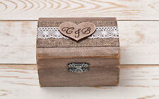 Ring Bearer Box, Wedding Ring Box, Ring Holder, Wooden Box, Rustic Weddings