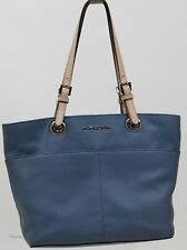 Michael Kors Denim Leather Bedford TZ Pocket Tote Bag & Mercer Zip Wallet