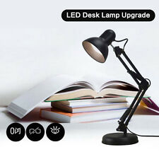 Large Black Clamp Clip on LED Adjustable Craft / Reading Table Desk Light Lamps