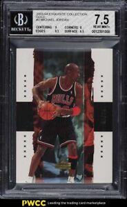 2003 Exquisite Collection Gold Michael Jordan /25 #3 BGS 7.5 NRMT+