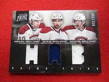 2012 Prime Combos Geoffrion Leblanc Palushaj triple jersey Canadiens #ed 4 / 150