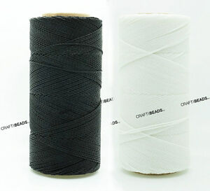 0.8MM Waxed Polyester Linhasita Cord Macrame Bracelet Thread String 250yds Spool