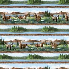 Wilmington Roaming Wild by Kevin Daniel 30168 427 Horse Stripe Cotton Fab