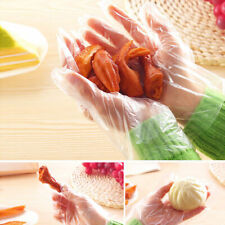 100Pcs Plastic Clear Disposable Gloves Garden Restaurant Home Food Baking Tool