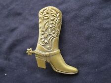 Cowboy Boots Gold Pin - Country Western Brooch - Jewelry - NEW