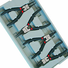 7 Inch Circlip Snap Ring Plier Set by Hilka Pro-Craft Internal External & Offset