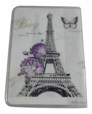 New Eiffel Tower statue Travel Passport Card Holder Pouch Cover artistic print
