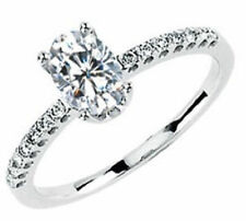 GIA D SI1 0.50 carat Oval Shape Diamond Engagement 14K White Gold Ring 0.65 ct t