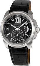 W7100041 | Brand New Cartier Calibre de Cartier Steel Men's Watch w/ Black Strap