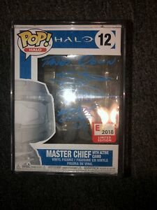 Halo Steve Downes Signed Master Chief Funko Pop E3 Exclusive Beckett Coa