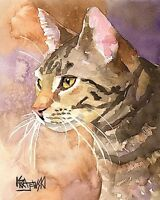Norwegian Forest Cat 8x10 Art PRINT Signed by Artist Ron Krajewski Painting