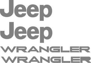 Set of wrangler Replacement Stickers Decals for YJ TJ