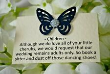 Butterfly Information Cards - Requesting Adults Only (No Children) at Wedding