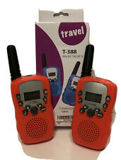 2Pcs T-388 Walkie Talkie 8Km 2 Way Radios For Travel New In Box Orange
