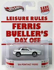 Hot Wheels Ferris Bueller's Day Off '84 Pontiac Fiero #X8926 New 2012 White 1:64