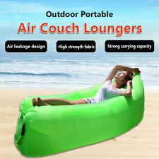 Inflatable Outdoor Lazy Couch Air Sleeping Sofa Lounger Chair Camping Beach   S