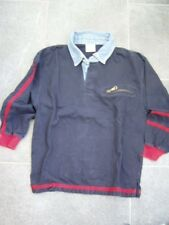 * Coole blaues Polo Langarm Shirt Gr. 128 - Jungs *