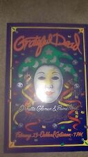 GRATEFUL DEAD AUTOGRAPHED GARCIA CONCERT POSTER FROM BAND COMPLETE SIGNED