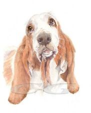 BASSET HOUND.    3 Blank Dog greeting cards by Christine Groves