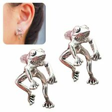 Two Way Frog Earrings, Frog Lover Jewelry 1 pair Wp