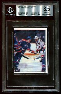 1982 Topps Stickers Wayne Gretzky BGS 8.5