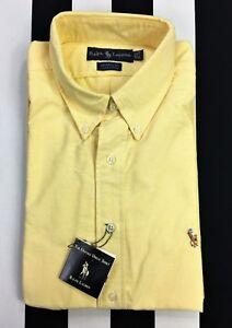 New! RALPH LAUREN Long Sleeve Button Down Collar Oxford YARMOUTH Dress Shirt