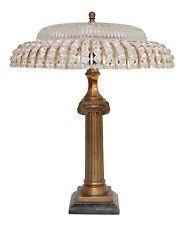 Einzigartige Jugendstil Salon Tischlampe Schreibtischleuchte Messing Marmor