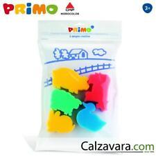 PRIMO-Morocolor Set 5 Spugne per Dipingere e Colorare Sponge World - Animali