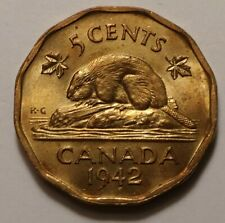 1942 Canada Tombac 5 Cents 9982